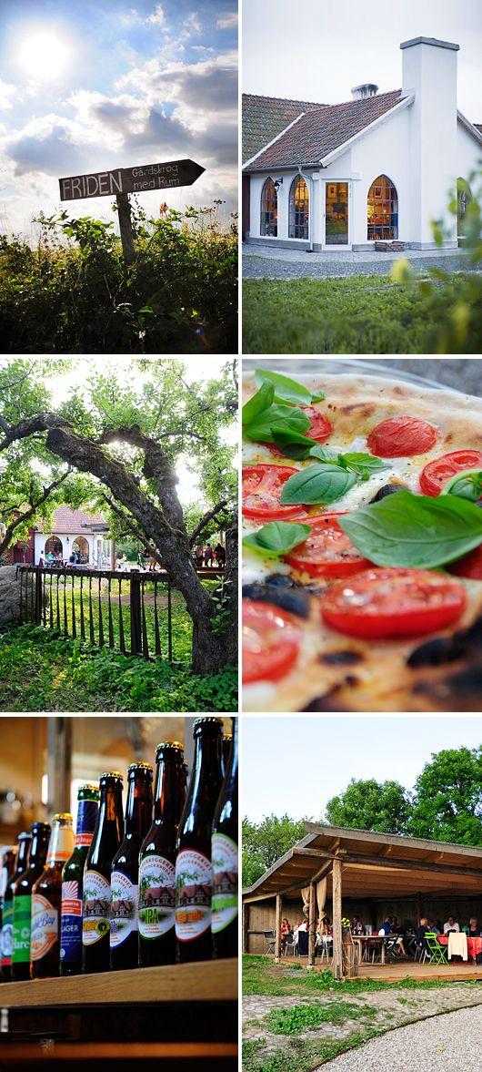 Längst ut vid vägs ände i Södra Mellby ligger Restaurang Friden på Österlen som serverar de bästa vedeldade pizzorna som finns.