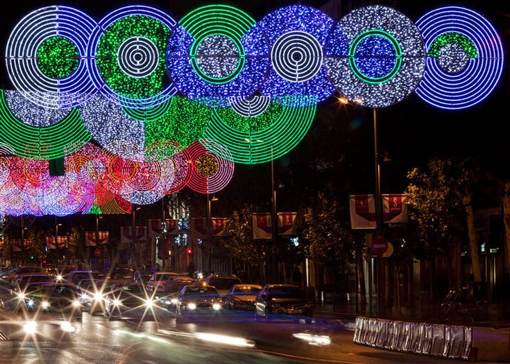 Christmas lights in Madrid by Teresa Sapey