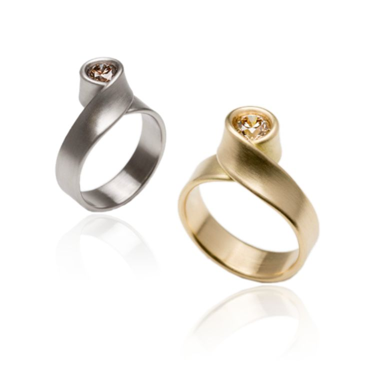 101 best orro engagement rings images on pinterest Wedding Rings Glasgow leen heyne loop engagement ring orro contemporary jewellery glasgow available in grey or yellow gold brilliant cut diamond wedding rings glasgow