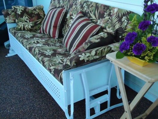 vintage gliders metal | Where To Find Custom Cushions For My Old Metal Glider?