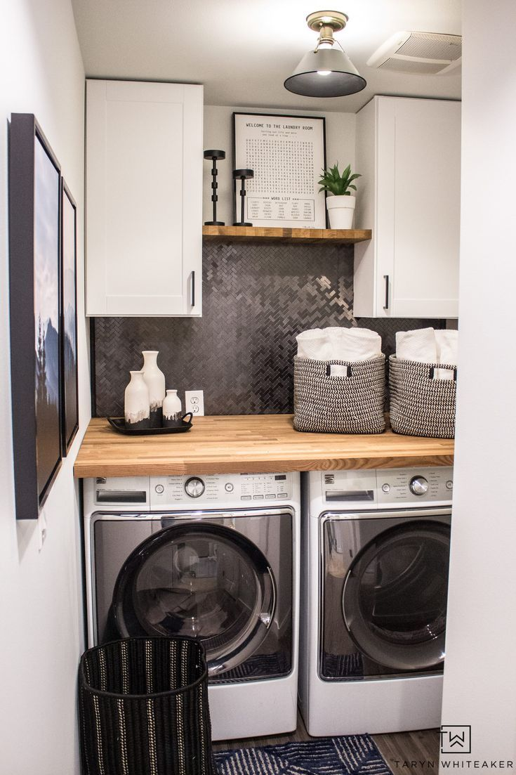 Small Laundry Room Makeover Small Laundry Room Makeover Laundry Room Renovation Laundry Room Makeover