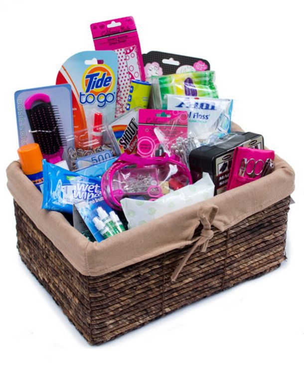 Bathroom kit list - going away to college gift basket.