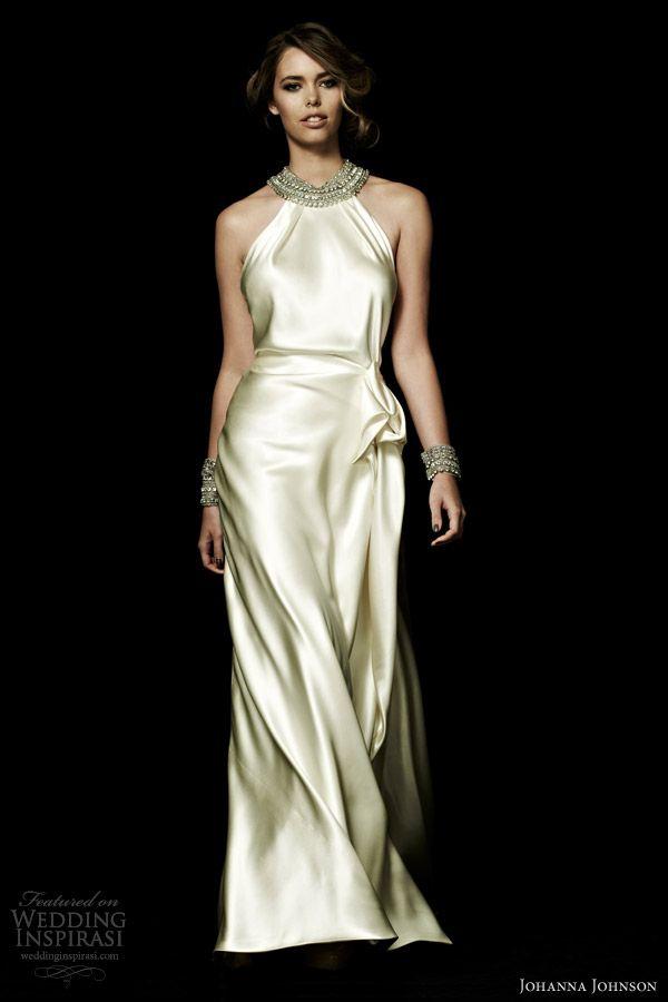 johanna johnson spring 2013 beaumont halter neck wedding dress