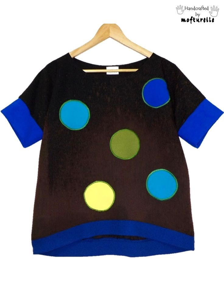 happy dots on chocolate blouse