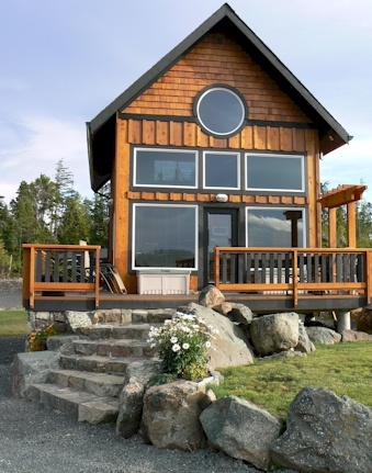 Ecoscape tiny cabin with loft, vancouver island