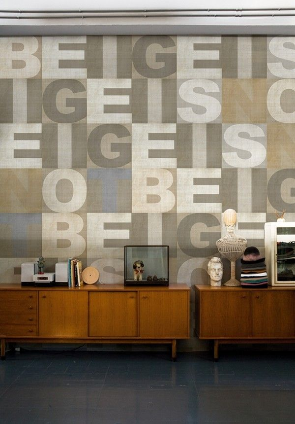 Third Picture of Interior Design Ideas : 4 Cool Letter Wallpapers for Imaginative Interiors, Nice Wallpaper Design for Living Room