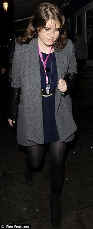03-15-13 Princess Eugenie of York leaving Notting Hill Restaurant