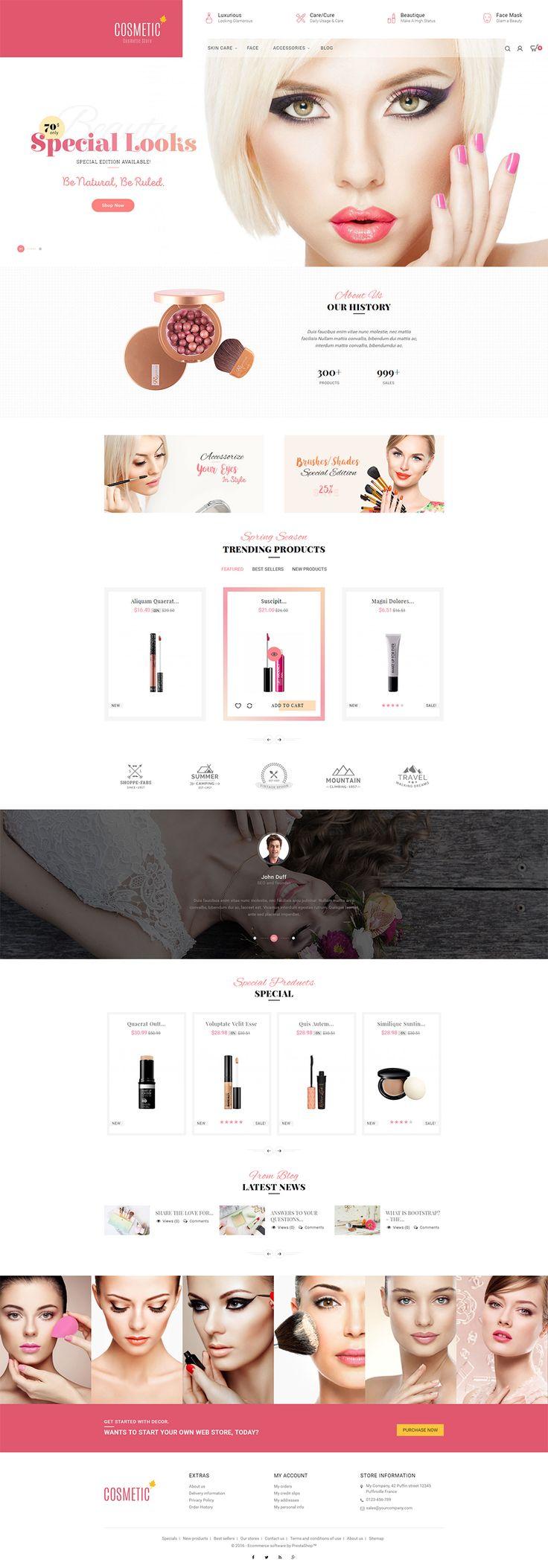 Fashion Beauty Jewellery Website Design Portfolio - Check out our new prestashop beauty cosmetics store theme https goo cosmetic storesresponsive web designfashion