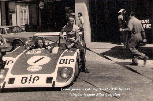 Carlos Santos, Lola T292, Team BIP - Ecurie Bonnier (Banco Intercontinental Português), Circuito Vila Real, 1973 (DNF). Tags: portuguese portugal bank