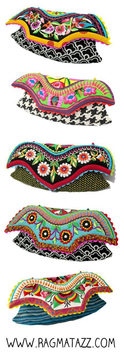 Thai tribal clutches by Ragmatazz www.facebook.com/Ragmatazz