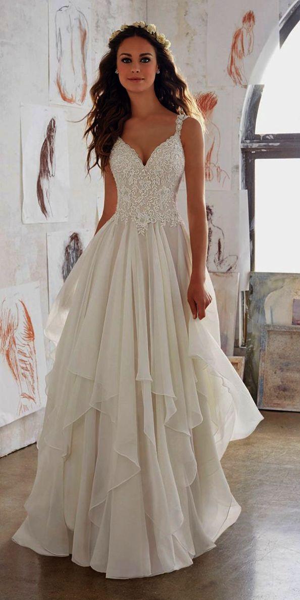 Lace Wedding Dresses Real Brides Sleeve A Line Dress Uk