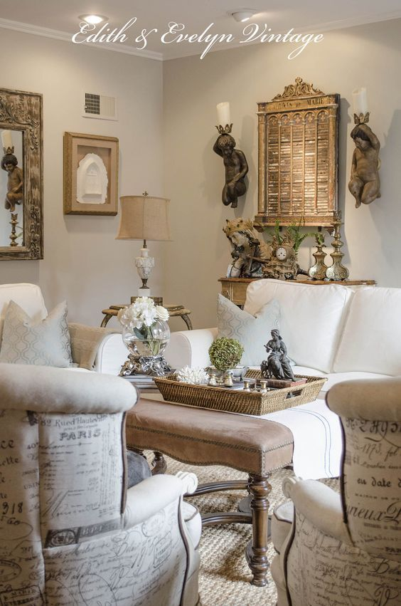 25 best ideas about french decor on pinterest french - Country cottage style living room ideas ...