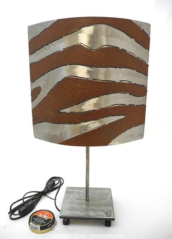 980 best lighting table lamps and floor lamps images on pinterest beautifully designed with two reversible designs polished zebra stripes on one side plasma cut ndoro swirls the other side greentooth Images