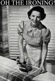Image result for 1950's iron and ironing board