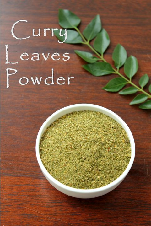 Jaya's recipes-Curry leaf powder
