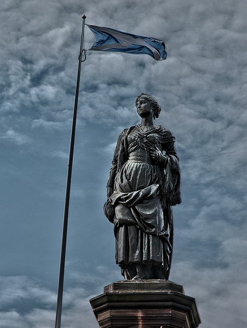 Highland Mary Statue in Dunoon, Scotland by superhoopsa