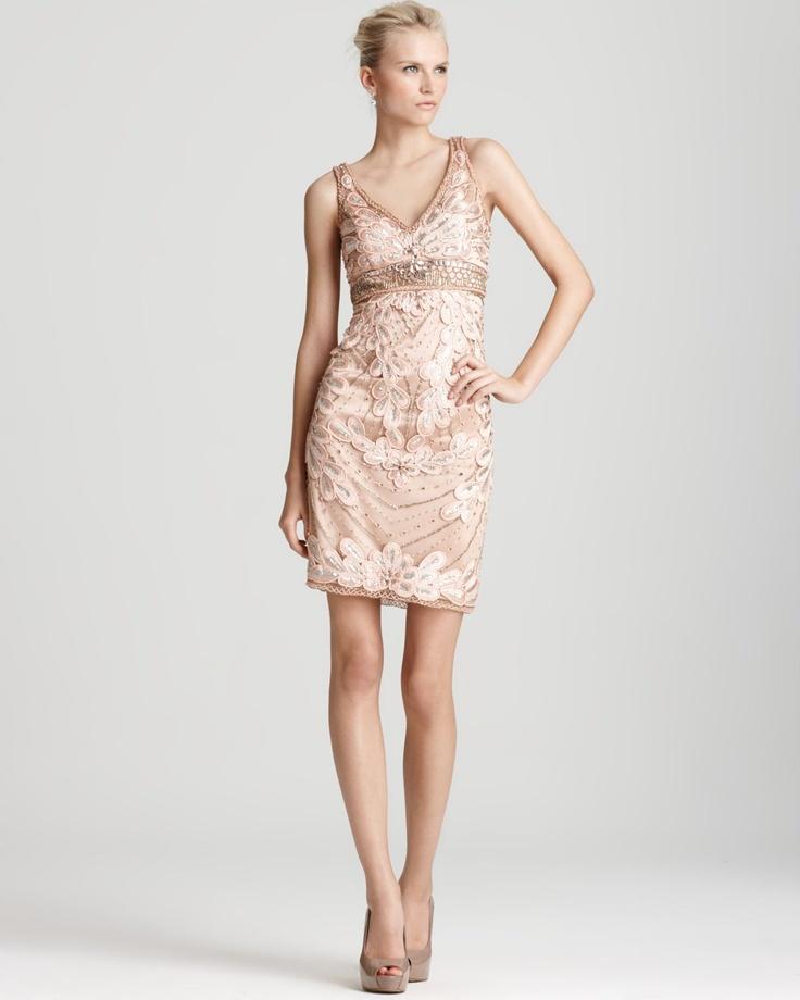 rose gold dress...wedding guest dress   My favorites ...