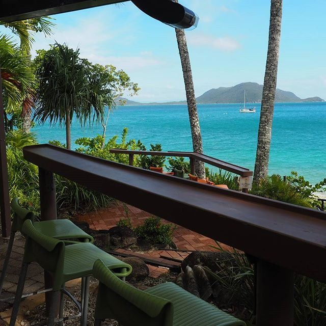 When you do feel a wee bit parched, the view from Foxys Bar makes 1 turn into 5! #fitzroyisland