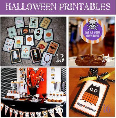 Halloween Free Party Printables!