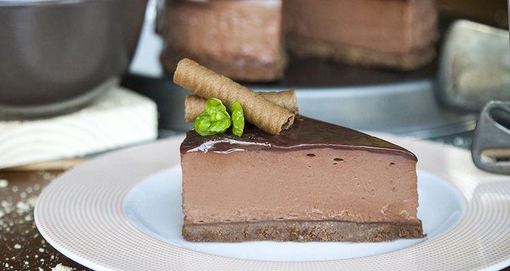Συνταγή για cheesecake με πραλίνα σοκολάτας