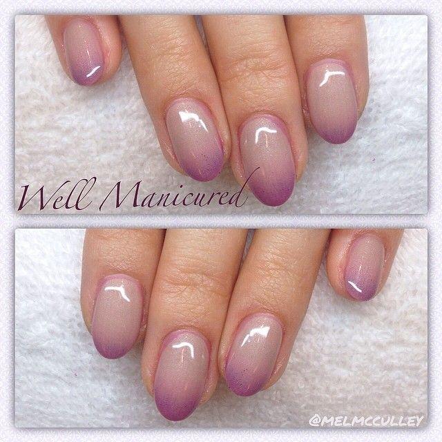 Cherry Blossom-inspired nail art. Gradient pink nail polish. - Best 25+ Mood Changing Nail Polish Ideas On Pinterest Mood Nail
