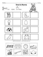 math worksheet : 89 best rhyming words syllables images on pinterest  rhyming  : Kindergarten Rhyming Worksheets Cut And Paste