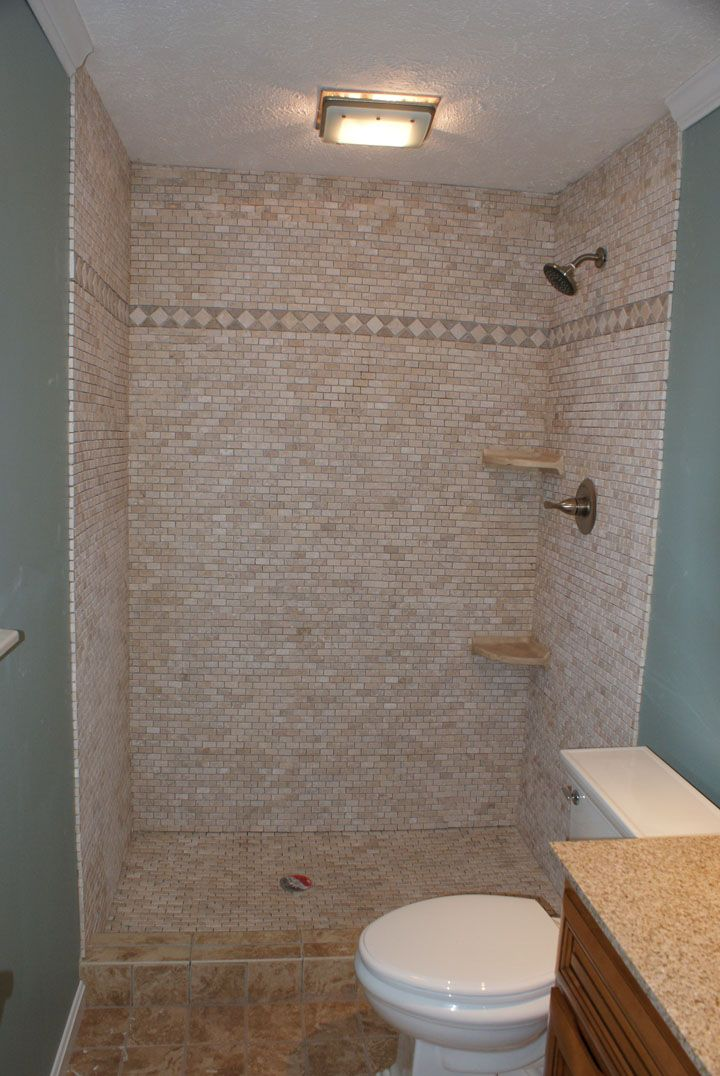 Shower Stalls for Mobile Homes | Custom Tile Shower Enclosure - Custom Tile Bathroom Shower - Knoxville ...