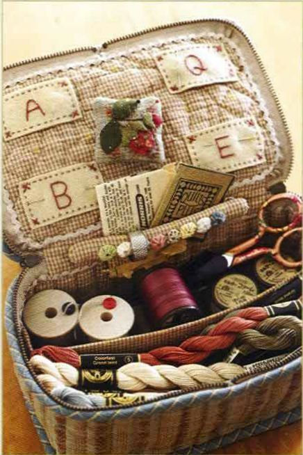 Happy Quilts - sewing basket