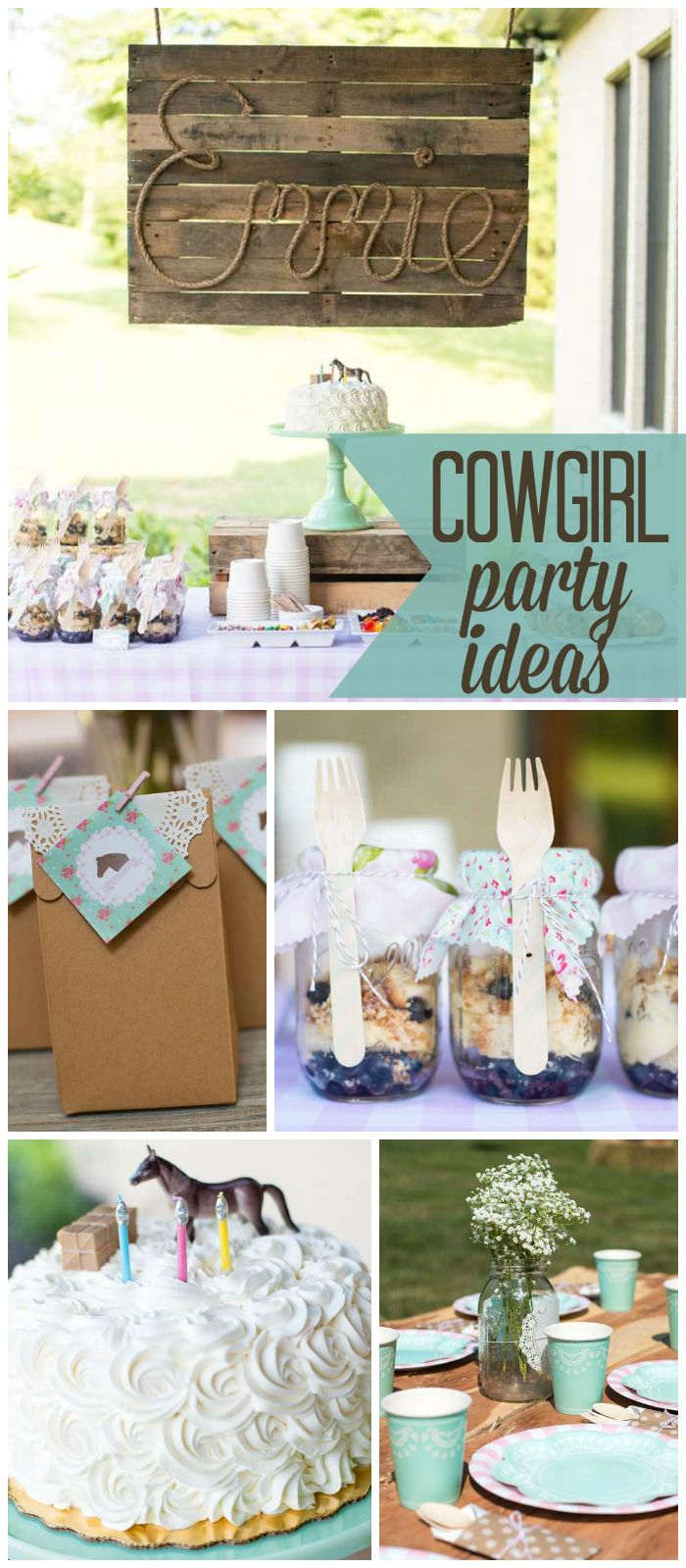 "shabby chic western / Birthday ""Shabby Chic Pony Party"""