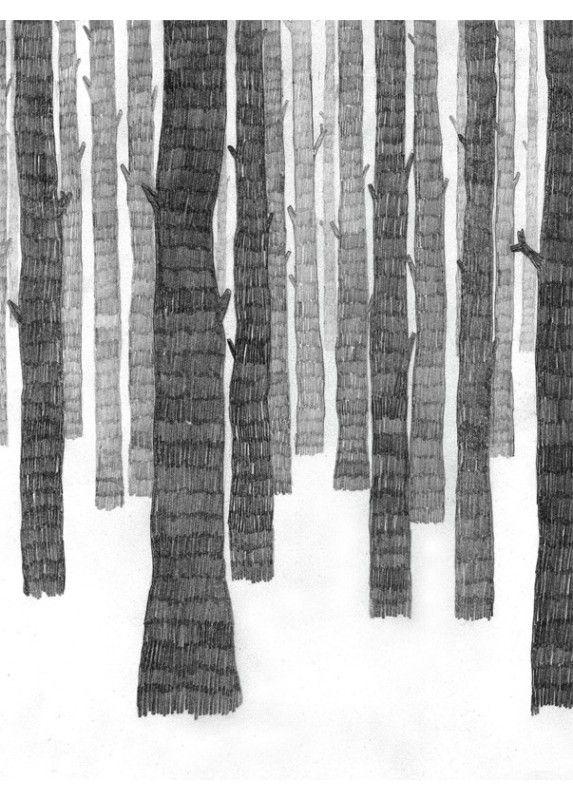 Dessin Noir et Blanc de la Scandinave Frida Stenmark - Affiche Déco