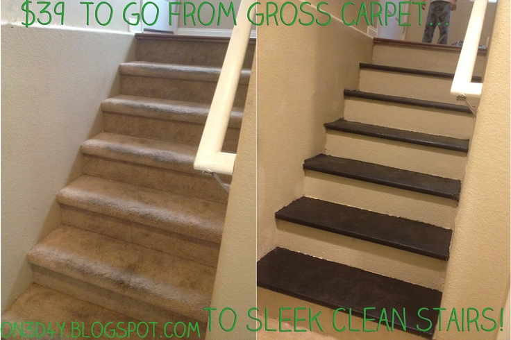 Inexpensive diy carpet to wood stairs brenda cargos for for Diy wood stairs