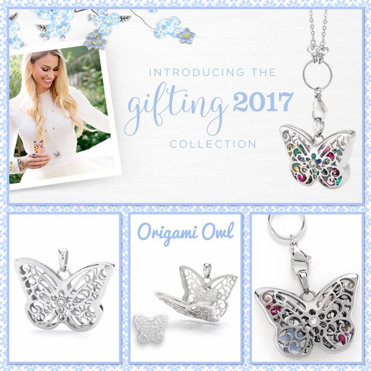 Origami Owl. Sentiments Butterfly Pendant collection, arriving 4/7/17! www.CharmingLocketsByAline.OrigamiOwl.com