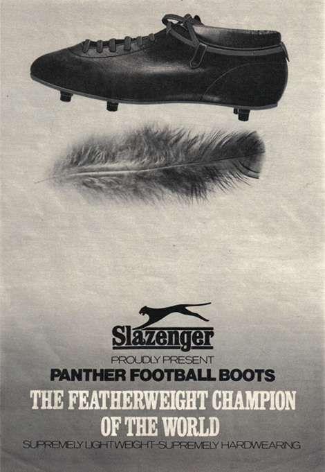 football boots vintage slazenger ads
