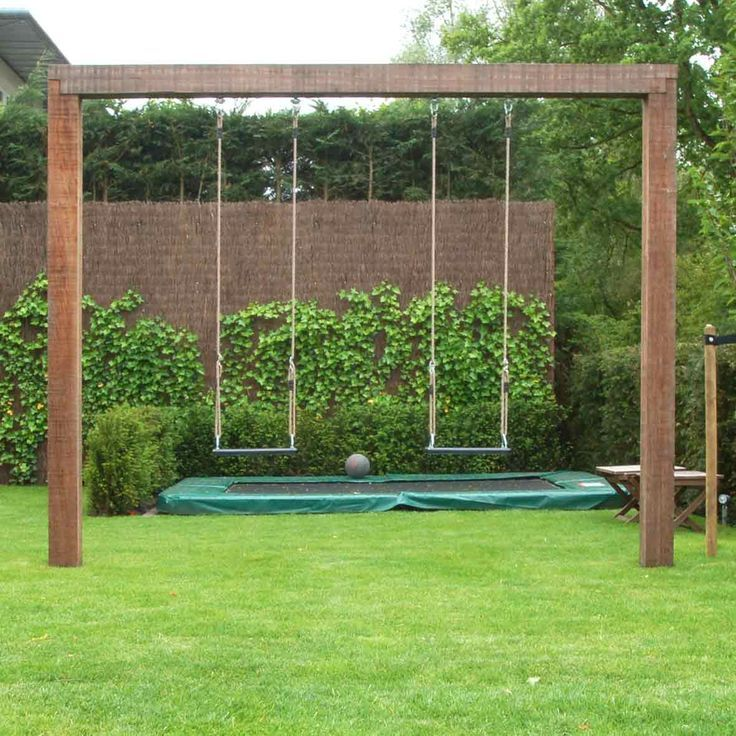 60 Swing Sets Ideas That Would Be Awesome From The Time Kids Are Barely Old Adequate To Toddle Around Th Backyard Swing Sets Backyard Swings Backyard For Kids