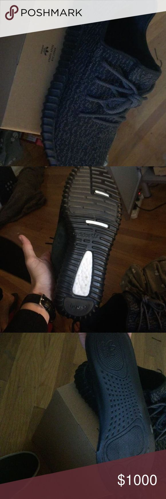 Yeezys Boost 350 Pirate Black Men Authentic -_- if you want pictures ask! - Got as a gift, not a big Yeezy fan got some use out of them tons of life 9/10 - They go for 1250$ on Flight Club - I'll take offers , no low balls Adidas Shoes Sneakers