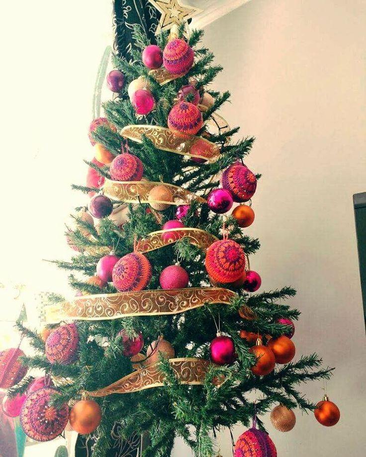 ....::::Nuestro Pino Vintage de Navidad::::.... #hechoamano #crochet #crochetballs #vintage #tejidoamano #amotejer #amigurumi