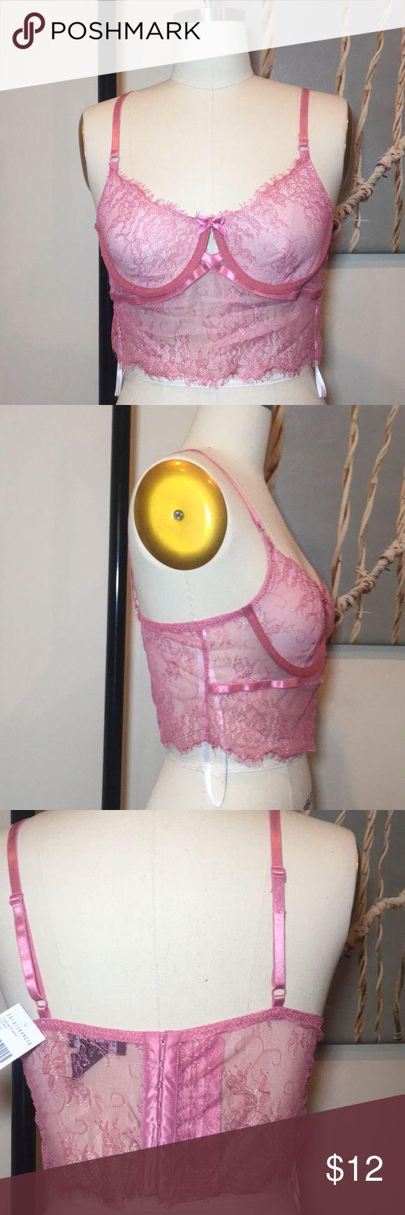 NWT lace bralette Underwire Center Keyhole Sheer Mesh Mauve  100% Polyester Fashion Nova Intimates & Sleepwear Bras