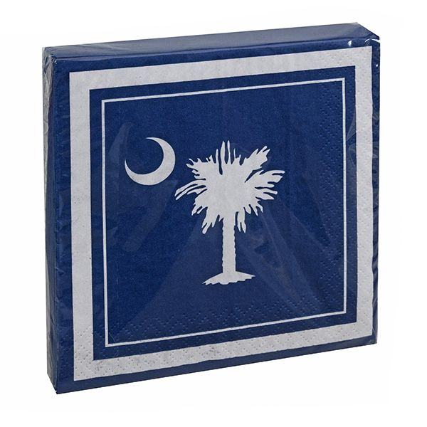 Beverage Napkins-Palmetto Moon - Occasionally Made - Classic Gifts with a Trendy Twist!