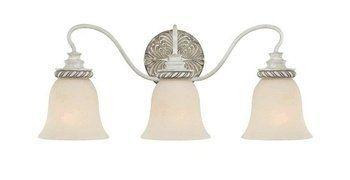 Jeremiah Lighting 27303-ATL 3 Light Bathroom Light by Jeremiah Lighting. $142.90. Glass Painted - Dia.: 6. Antique Linen. W: 23.5 H: 9.75. Zoe. 3 - 100W Med. Light Bulb:(3)100w A19 Med F Incand Zoe 3-Light Vanity