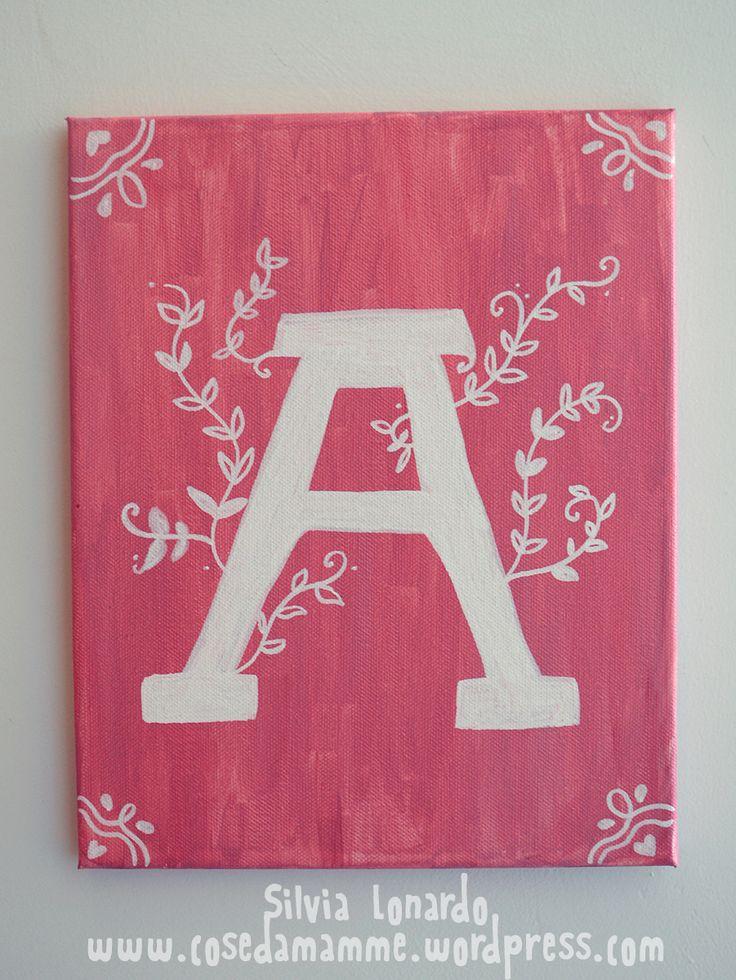 quadro monogramma A
