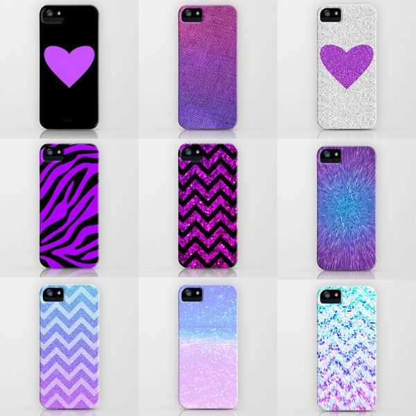 I Love Purple Phone Cases by M Studio - FREE SHIPPING - SOLD SEPARATELY - For iPhone 3G, 3GS, 4, 4S, 5/iPod Touch/Galaxy S4