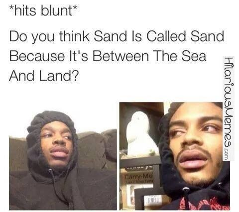 Funny Meme *hits blunt*...