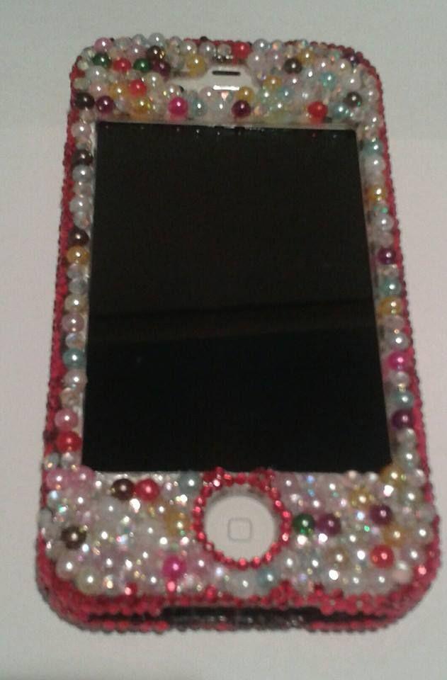 Iphone 4 blinged case.