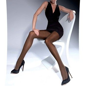 Salomea - Collants à chevrons 50 deniers - bronze - Knittex | Brandalley