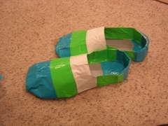 I wonder if Rachel could design duct tape flip-flops?