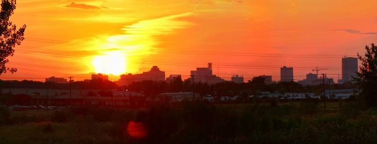 Sunset over Winnipeg!