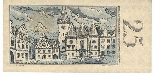 25 Czecho-Slovakian crowns (1958)