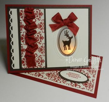 hand stamped christmas cards ideas | Dawns Stamping Studio: Christmas Peek a Boo Easel card video