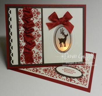 Cherry Cobbler Peek a boo card  made at Susans