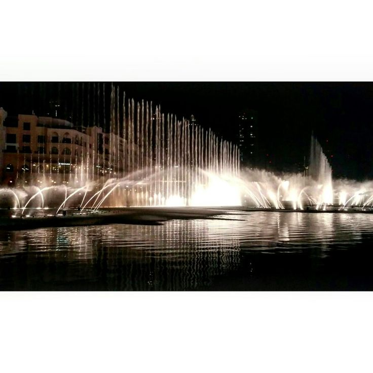 The spectacular dancing  fountains